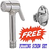SHRUTI Brass Heavy Duty Hand Faucet / Heal faucet With Wall Hook Stand ( With Free Screw Fitting Kit)- 1172