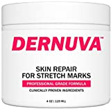 Dernuva Skin Repair for Stretch Marks - Reduce and Fade Away Old or New Scars Best for Pregnancy, Weight Loss and Men/Bodybuilders