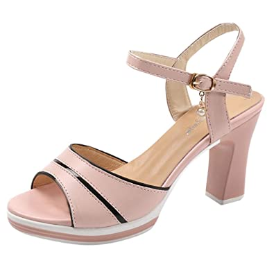23ac59e5495cd Amazon.com | ZSBAYU Sandals for Women with Heels, Summer Ladies Sale ...