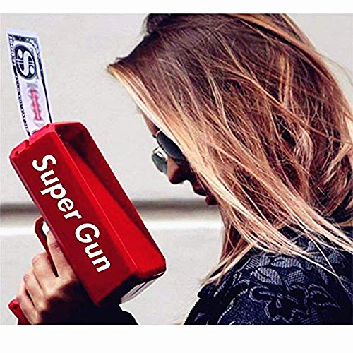 Sopu Make it Rain Money Gun Paper Playing Spary Money Toy Gun, Prop Money Gun with 100 Pcs Play Money Cash Gun Party Supplies (Money Gun) by Sopu (Image #5)