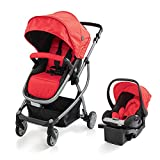 Urbini Car Seat Best Deals - Modern Lightweight Compact Travel System Reclining Buggy Stroller With Infant Baby Car Safety Seat Set (Black)