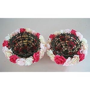 5 PCS HOT SELL Colorful High Quality, 15~40CM Rose Pomander Flower Kissing Ball 2