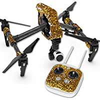 Skin For DJI Inspire 1 Quadcopter Drone – Gold Dazzle | MightySkins Protective, Durable, and Unique Vinyl Decal wrap cover | Easy To Apply, Remove, and Change Styles | Made in the USA
