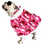 Cheap English Bulldog Dog Shorty Sweatshirt Bigger Than Beefy (56 to 80 Pounds) Pink Camoouflage