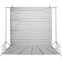 Emart 5x7 ft Photo Video Photography Studio Polyester Backdrop Background Screen (White Wood Floor)
