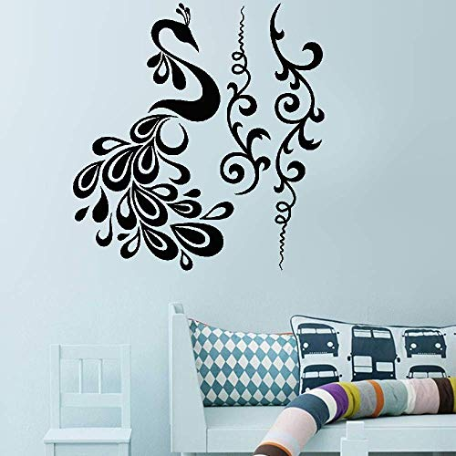 Kuari Wall Sticker Family DIY Decor Art Stickers Home Decor Wall Art Fleurs Céleste Et Son Paon for Living Room Bedroom