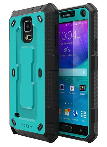 Note 4 Case, Galaxy Note 4 Case, E LV Galaxy Note 4 Case - SHOCK ABSORPTION / HIGH IMPACT RESISTANT Full Body Hybrid Armor Protection Defender Case Cover for Samsung Galaxy Note 4 - [TURQUOISE/BLACK]