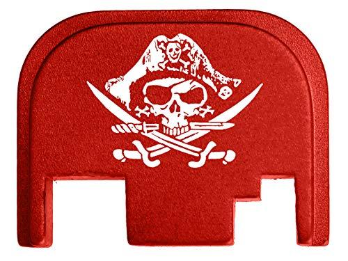 for Glock Back Plate Gen 1-4 17 19 21 22 23 27 30 34 36 41 Red NDZ - Calico Jack Jolly Roger