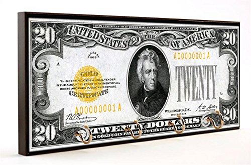 Brotherhood 1928 Twenty Dollar Bill Gold Certificate Andrew Jackson Wood/MDF Key ()