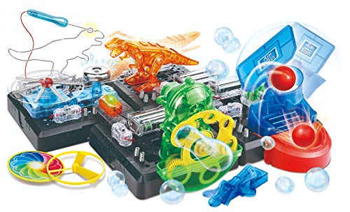 WeGetDone STEM Educational Gift for Boys and Girls Science Experiment Game w Electronic Blocks, 125 pcs Challenge ()