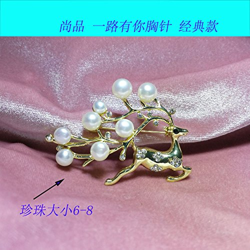 PREMIER parts all the way to have your temperament brooch pearl brooch new fashion European version of the diamond mountings woman
