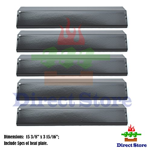 Direct store Parts DP134 (5-pack) Porcelain Steel Heat Shield/Heat Plates Replacement Brinkmann, Aussie, Charmglow, Grill King, Uniflame, Master Forge, Grill King, Tera Gear, Gas Grill Models (5)