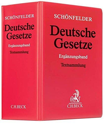 Schönfelder Deutsche Gesetze, Ergänzungsband, Grundwerk ohne Fortsetzung.
