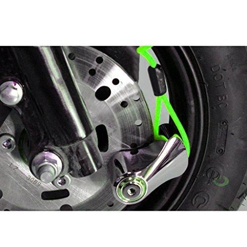 120cm Lock Disc Spring Rappel Cable pour Moto Scooter V/élo Moto