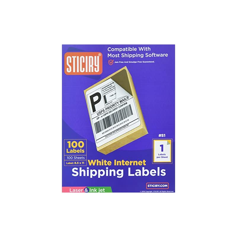 100 Full Page Shipping Labels - Heavywei