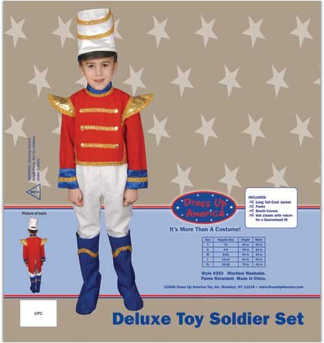 Deluxe Toy Soldier Costume Set - Toddler T4
