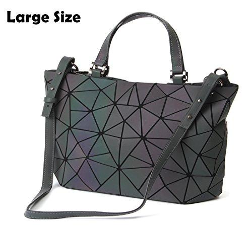 HotOne Geometric Luminous Purses and Handbags Shard Lattice Holographic Purse Fit 14