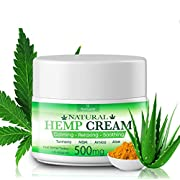 Hempeas Organic Hemp Pain Relief Cream, 500 Mg, Made in USA, Non-GMO, Natural Hemp Extract Cream for Joint, Muscle, Back, Neck. Contains Arnica, Aloe, MSM & EMU Oil