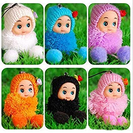 JEWH Mini Small Plush Toy - Lovely Exquisite Key&Bag Chain/ Phone Strap/ brinquedos (