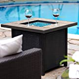 BALI OUTDOORS Propane Gas Fire Pit Table, 32 inch