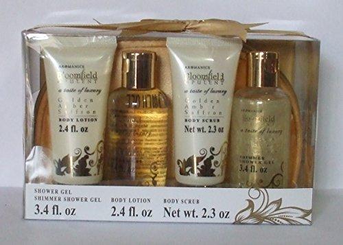 Price comparison product image Bloomfield Opulent Golden Amber Saffron Bath Gift Set, 5 Piece