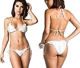 COQUETA Swimwear Ruffle Women Brazilian Bikini Scrunch Set Wavy Sexy Teeny Swimsuit