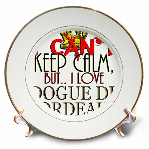 Blonde Designs I Cant Keep Calm, But I Love - I Cant Keep Calm, Dogue De Bordeaux - 8 inch Porcelain Plate (cp_241961_1)