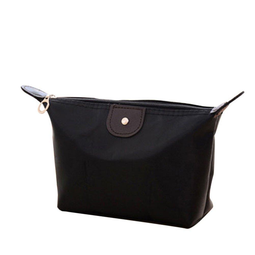 Donalworld Women Travel Makeup Pouch Storage Case Clutch Purse Black