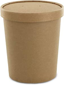 Eco Friendly, Kraft Soup Bowls, Disposable Food Cups. Great For Restaurants, Take-Outs, Or To-Go Lunch (25/Pack) (Kraft, 32 oz)