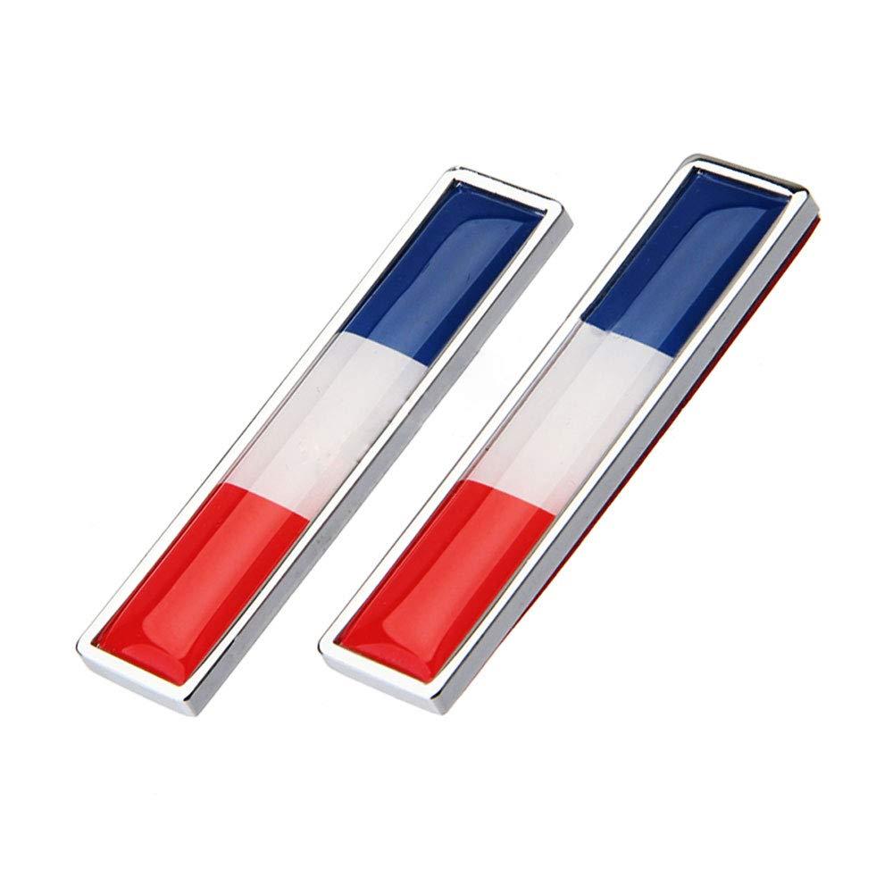 1 Par Francia Bandera Etiqueta Engomada del Coche de Metal Decorar Etiqueta Emblema de la Insignia para BMW Opel Lada Hyundai Renault Toyota Honda