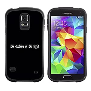 LASTONE PHONE CASE / Suave Silicona Caso Carcasa de Caucho Funda para Samsung Galaxy S5 SM-G900 / Collage Art Black Define Limit Text Inspiring