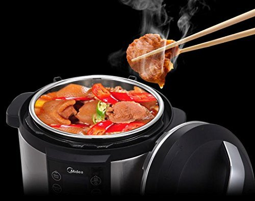 MIDEA 6 Qt 6 in 1 Programmable Electric Pressure Cooker, Meat/Stew, Poultry, Steam, Slow Cook, Rice, Beans/Chili, Congee, Soup, Multi Grain, Sauté by MIDEA (Image #4)