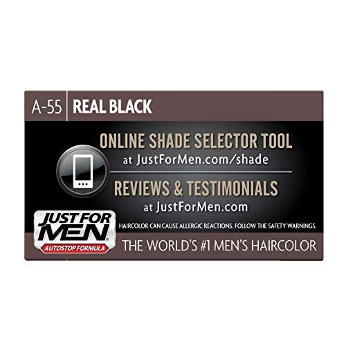 just for men autostop mens combin hair color real black