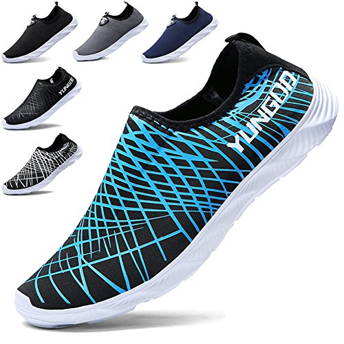Slip Shoes blue Athletic Drying Men's Walking Water YUNGOD Quick Lightweight on Shoes and 901 Aqua Women's wXO1WHq