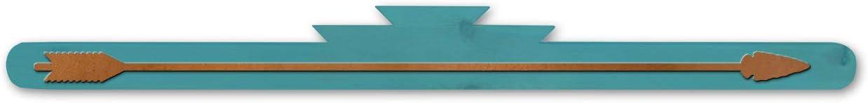 Sunland Artisans Rustic Turquoise Wooden Rug Hanger - Arrow Accent (24in)