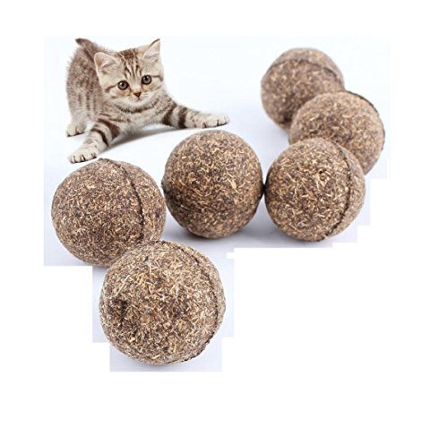 [Hot Sale! 2017 Pet Cat Natural Catnip Treat Ball Favor Home Chasing Toys Healthy Safe Edible] (Cherry Apple Costumes)