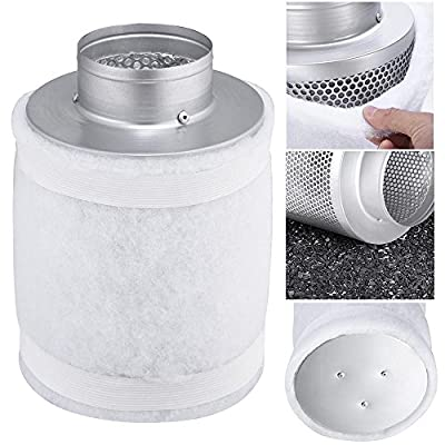 "Best Cheap Deal for 4"" 150CFM Hydroponic Air Carbon Filter Odor Control Scrubber for Inline Exhaust from Yescom - Free 2 Day Shipping Available"
