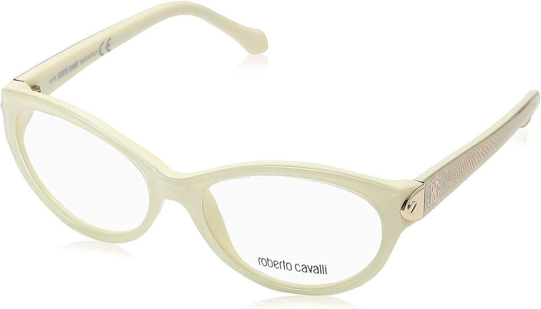Roberto Cavalli RC0769-025 Eyeglass Frame White//ivory frame w// Clear Demo Lens 53mm