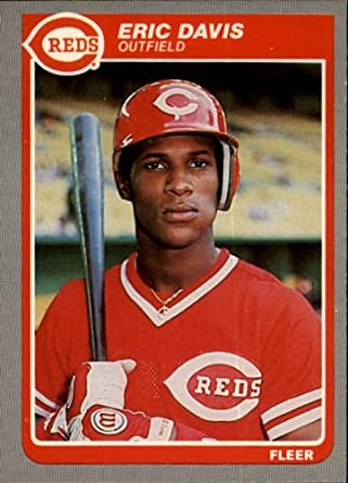 Amazoncom 1985 Fleer Baseball Rookie Card 533 Eric Davis Mint