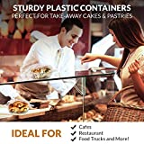 [50 Pack] Clear Hinged Plastic Containers - Single
