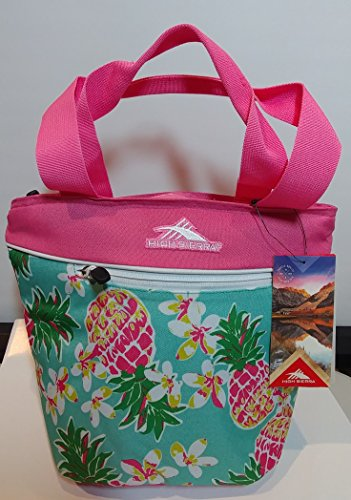 high-sierra-pineapple-party-insulated-lunch-tote-with-sistema-lunch-cube-pink-accent