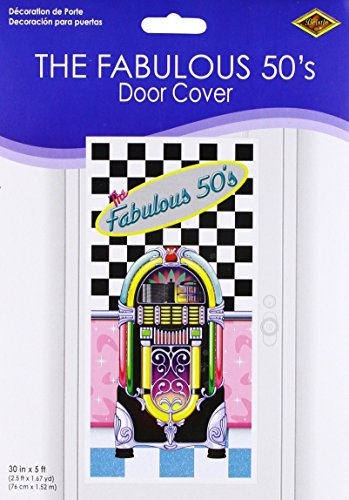 The Fabulous 50's Door Cover Party Accessory (1 count) (1/Pkg)