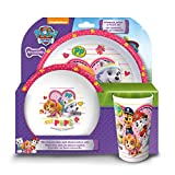 Paw Patrol Girls Tumbler, Bowl, Plate Set, Red, 20.7 x 20.7 x 11.2 cm