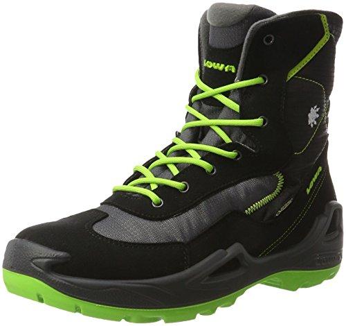 Lowa Luca GTX Mid, Stivali da Escursionismo Unisex-bambini Nero (Schwarz/Limone Black/Lime)