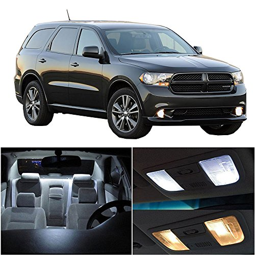 - cciyu LED Bulb LED Interior Lights 10pcs White Package Kit Accessories Replacement Replacement fit for 2011-2017 Dodge Durango