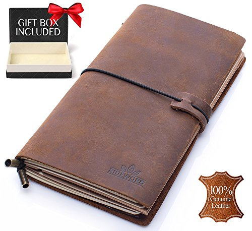 Leather Journal Refillable Notebook Travelers product image