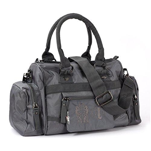 Jennifer Jones Schultertasche Fashion Henkeltasche Handtasche Nylon grau OTJ216K