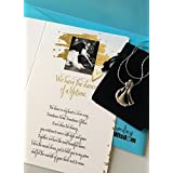 Smiling Wisdom - Dance of a Lifetime Love Letter Greeting Card - Anniversary, Valentine, Anytime Appreciation Gift for Wife, Girlfriend - Dance Pendant Necklace - Platinum Plated