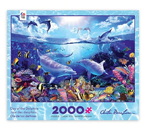 Ceaco Day of the Dolphins Puzzle by Christian Riese Lassen Puzzle (2000 Piece)