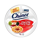 Chip & Dip Party Serving Tray Chinet White Disposable Microwavable Entertaining Package of 8